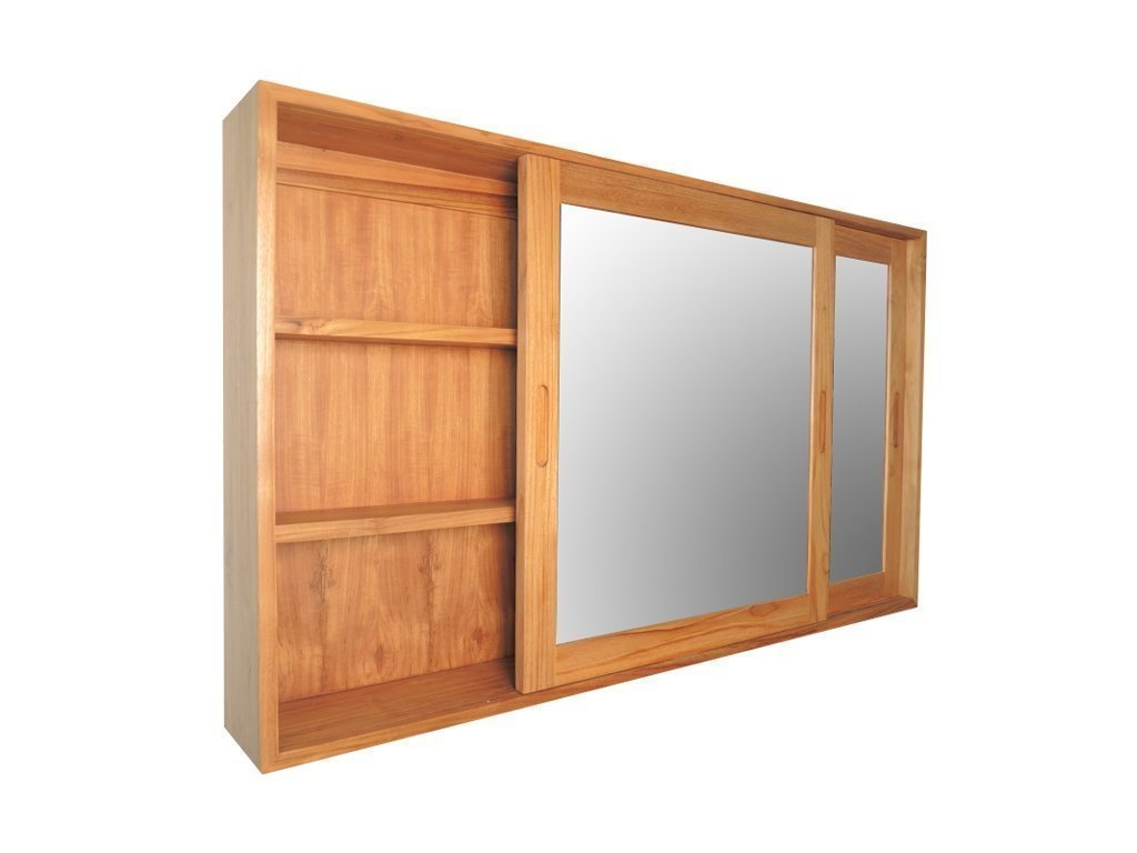 Teak wood storage cabinet mirror for sale online Skyllas Sunstrum # Bois Bandé En Pharmacie