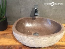 Petrified wood sink from petrified teak 5 natural stone sinks - Alpha 203 19 X15 X6 5 For Sale Online Skyllas