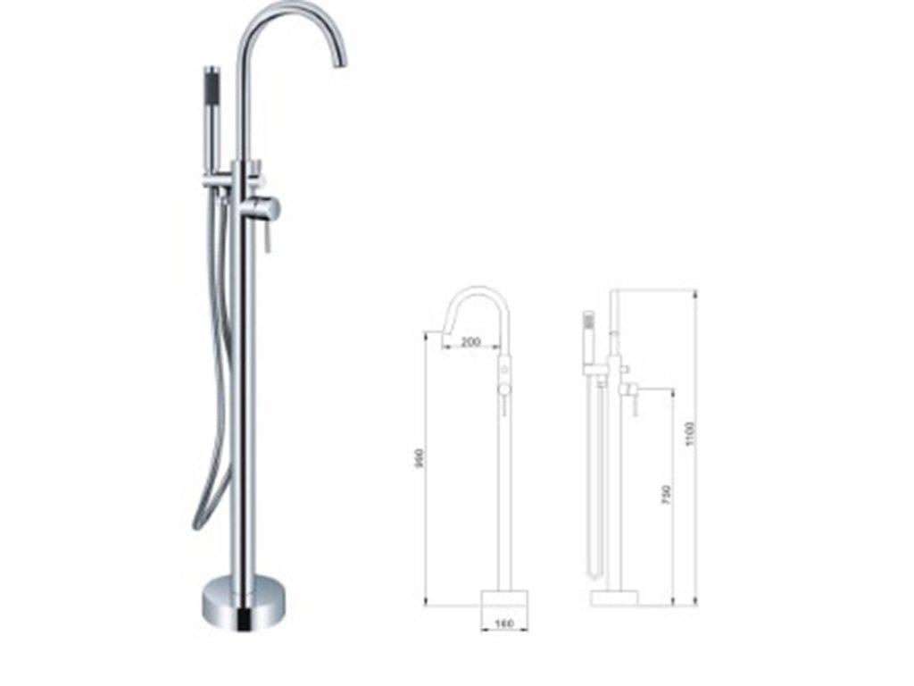 Freestanding Bathtub Faucet- Aqua Model for sale online   Skyllas ...