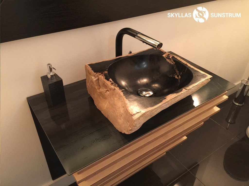 Our Client Project: Petrified Wood Vessel Sink Project Online | Skyllas  Sunstrum