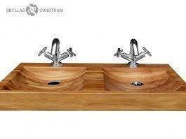 dana teak wood vessel sink
