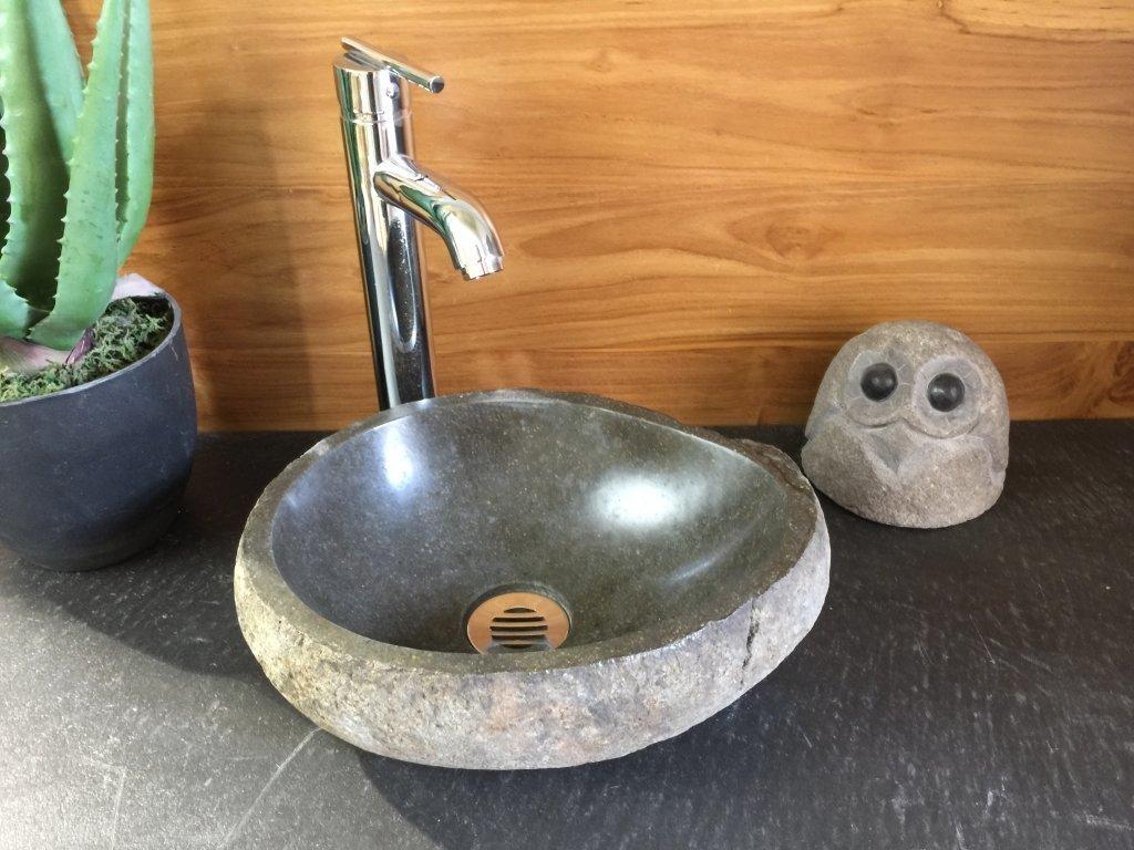 Alpha Micro #20089 River Stone Vessel Sink (13u0027u0027x10,5u0027