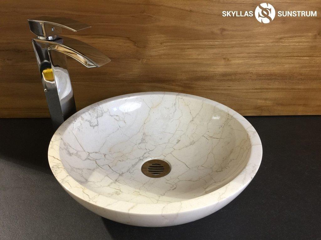 Eris  Polished Marble Vessel Sink (15 ...